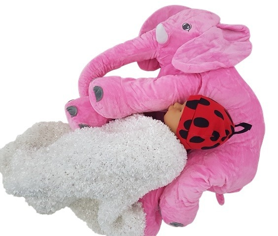Elephant Baby Pillow - Pink   Baby Stuff Online