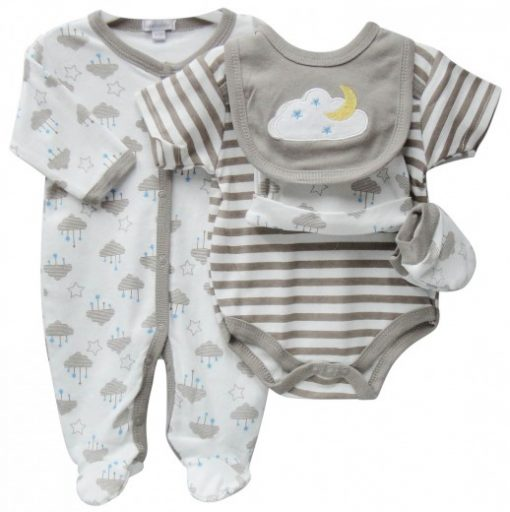 baby 5 piece starter pack clouds