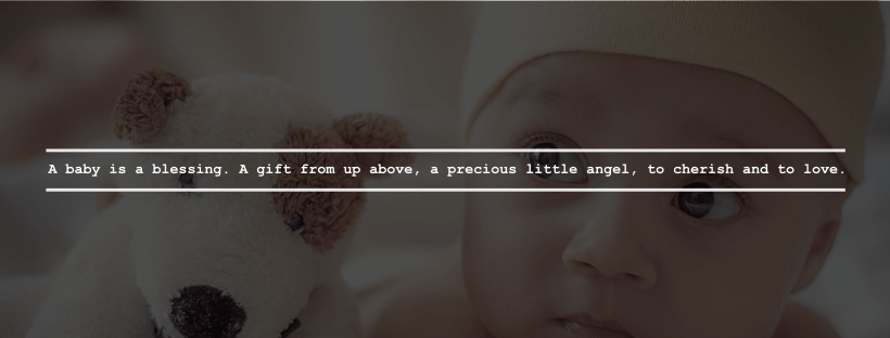 picture of baby with quote